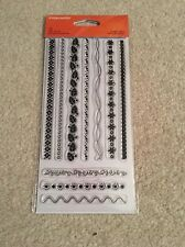Border A Plenty Borders Clear Acrylic Stamp Set by Fiskars Stamps