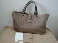 BOTTEGA VENETA Intrecciato Medium Nappa Leather Shoulder Tote Bag Taupe