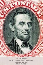 USPS First Day of Issue Ceremony Program #2410 World Stamp Expo Lincoln FDOI 89