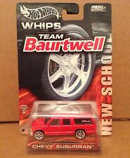 Hot Wheels Whips Team Baurtwell red Chevy Suburban van vehicle 1:64 diecast NEW