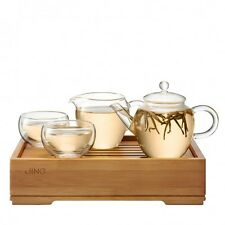 Jing Bamboo Serving Water Tray for Gongfu Tea Ceremony 25x16cm