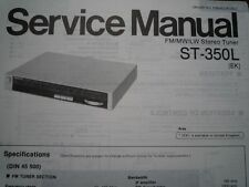 PANASONIC ST-350L Stereo Tuner Receiver Service manual wiring parts diagram