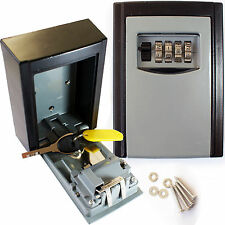 4 Digit Security Key Safe/Lock –Weather Resistant Outdoor Rated Wall Mounted Box