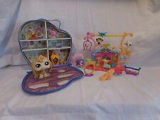 LPS Littlest Pet Shop Tricks Talents Show Set + Pet Case Carrier + Large Bunny