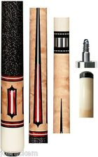 New Pechauer JP16-N Natural Stained Cue - 12mm Shaft - FREE 2x2, Extras & SHIP