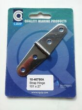 Marine Grade Stainless Steel Strap Hinge - 101mm x 27mm
