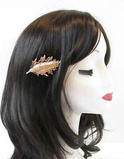 Gold Oak Leaf Hair Clip Vintage Grecian Roman Woodland Art Deco Autumn Acorn T54