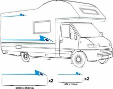 MOTORHOME VINYL GRAPHICS STICKERS DECALS SET CAMPER VAN RV CARAVAN HORSEBOX 3lbd