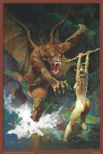 BEAUTY & THE BEAST - FRAZETTA ART POSTER - 24x36 FANTASY 803