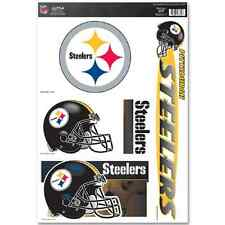 Pittsburgh Steelers 11x17 inch Ultra Decal Sheet with 5 Decals logo helmet