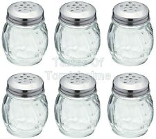 6 Kitchen Craft Glass Stainless Steel Large Hole Sugar Chilli Flake Herb Shakers