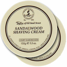 Pack of 2 x Taylor of Old Bond Street Sandalwood Shaving Cream 150g (300g Total)