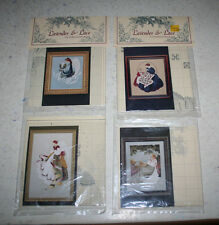 4 Lavender & Lace Victorian Designs Cross Stitch Patterns Charts Angels New/Used
