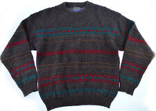 Vtg Pendleton Wool Sweater M L Mens Knit Southwestern Aztec USA Pullover 80s 90s