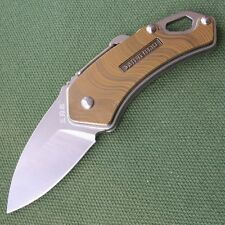 Sanrenmu Mini Folding Knife 4077MUC-SRE w/ Opener Carabiner Clip Screwdriver