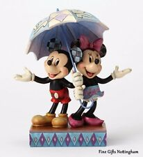 Disney Traditions Mickey & Minnie Mouse Figurine - Rainy Day Romance - Jim Shore