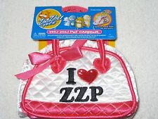 New Zhu Zhu Pets Accessory Deluxe Pet Carrier White I Heart ZZP
