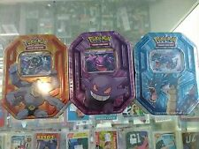 POKEMON TCG TRADING CARDS GENGAR GYARADOS MACHAMP COLLECTORS TIN SET SEALED LOT