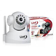 TELECAMERA IP PER INTERNI Wireless LKM Camera Videosorveglianza Wifi Motorizzata
