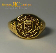 Men's Polished Manchester United Football Club Jewellers Bronze Ring 4.5 grams