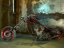 "24"" x 36"" Poster SPIDER WEBS CHOPPER Hot Rod Custom Bike Motorcycle"