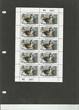 STATE DUCK, Pa #10 VF+ NH, Complete Sheet, 1992