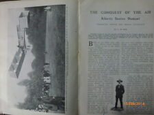 Dumont Dirigible Flying Pilot Flight Aeroplane Aviation Rare Photo Article 1907