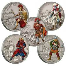 Warriors of History – The Full Set 5x 1oz Silver Coins