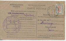 CARTE POSTALE RAVITAILLEMENT GENERAL MAIRIE DES TOURRETTES DROME 1946