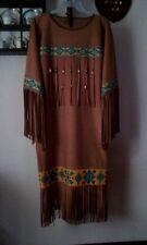 Native American Faux Suade Dress, leggings & belt, in size XL, PowWow Regalia