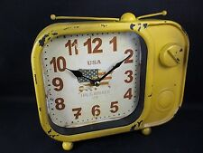 Retro Radio TV Antena Shape Working Clock Large Numbers USA 1776 This is America