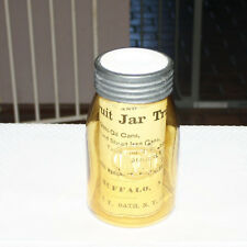 Amber Ball Buffalo Jar 1976 Souvenir Reproduction with Pamphlet and Advertising