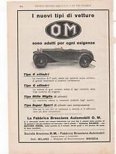 Pubblicità vintage OM AUTO BRESCIA old advertising werbung reklame publicitè B3