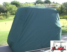 4 Passengers Golf Cart Storage Cover Fit EZ Go,Club Car,Yamaha Cart. Green. New