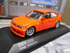BMW 320i E46 Tourenwagen Touringcar orange Test plain body Minichamps 1:43