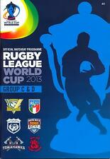 RUGBY LEAGUE WORLD CUP 2013 GROUPS C & D MINT PROGRAMME