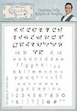 A5 HOLLY ALPHABET & NUMBERS SYCHHAN Sentimentally Yours by Phill Martin  *