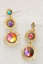 Anthropologie Elizabeth Cole Tiznit Fireworks Drop Dangle Swarovski Earrings