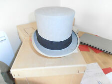 Vtg Lock & Co Ascot Grey Top Hat size 7 1/8