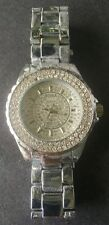 Women's BORA Watch ! Silver w/Sparkle Crystals ! Stainless ! FA0280M VERY NICE !