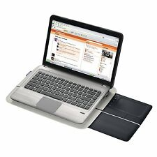 Laptop Lap Desk Cushtop Rest Wireless WiFi USB Trackpad Mouse Workstation Table