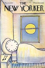 1971 Andre Francois ART COVER ONLY - Alarm Clock 'Sleeping in'