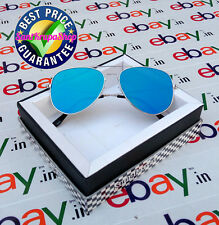 New Style SkyBlue Coated Mirror Aviator Flat Glasses Sunglasses/Goggles for Men