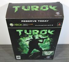 Turok (Xbox 360) BRAND NEW. RARE 1st PRINT BOX SET.