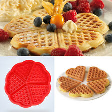5-Cavity Waffles Cake Chocolate Pan Silicone Mold Baking Flower Mould Kitchen x1