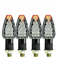 4X UNIVERSAL MOTORCYCLE 14 LED TURN SIGNALS INDICATORS BLINKERS FLASHER BLACK