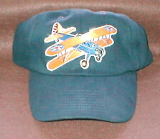 STEARMAN Airplane Aircraft Aviation Hat With Emblem Army Low Profile Style Navy