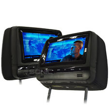 Factory-Style Leather DVD Headrest Screens/Monitors for Mercedes GL/GLE/GLA/CLA