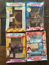 4 VINTAGE BOXES NORSTAR DOLL HOUSE MODERN FURNITURE NOS MIP 1960s