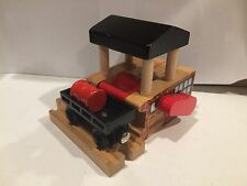 Wooden Sodor Dairy Barrel Station for Thomas Trains Wooden Railway
